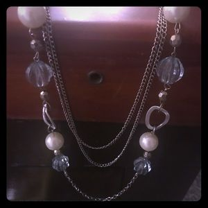 Jewelry - Multi Chain Crystal Beaded Necklace